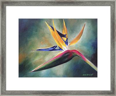 Framed Print featuring the painting Dj's Flower by Lori Brackett