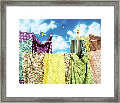 Dkny Bed Linens Framed Print