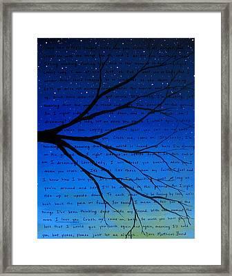 Dmb Crush 11x14 Framed Print