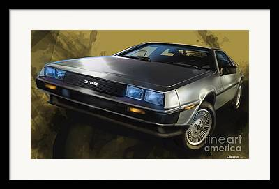 80s Cars Framed Prints