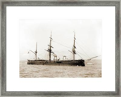 Dmitri Donskoi, Russian Ship, Dmitri Donskoi Cruiser Framed Print by Litz Collection