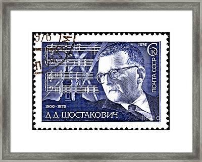 Dmitri Shostakovich  Framed Print by Jim Pruitt