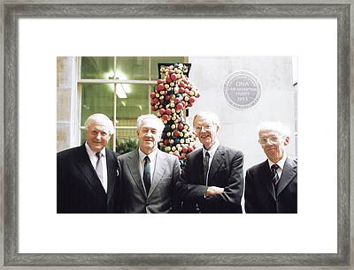 Dna Discovery Framed Print by King's College London Archives