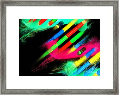 Dna Dreaming 8 Framed Print by Russell Kightley
