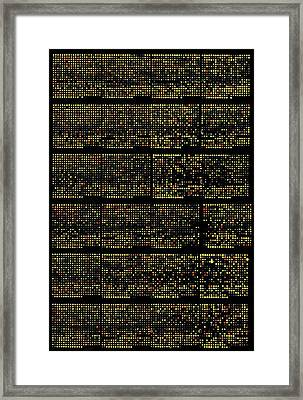 Dna Microarrays Framed Print by National Human Genome Institute