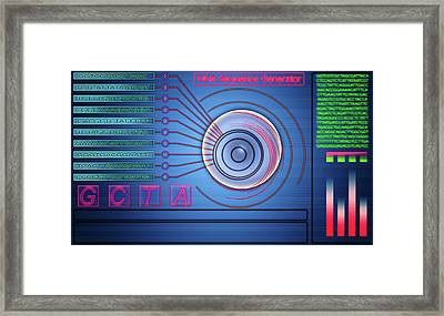 Dna Sequence Generator Framed Print