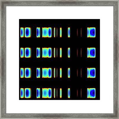 Dna Sequence Framed Print by Mehau Kulyk