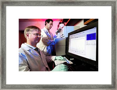 Dna Sequencing Framed Print by James Gathany/cdc
