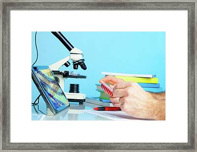 Dna Testing Framed Print