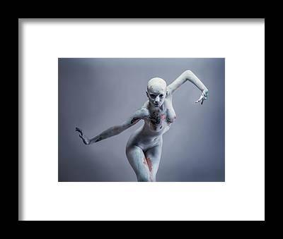 Model Posing Framed Prints