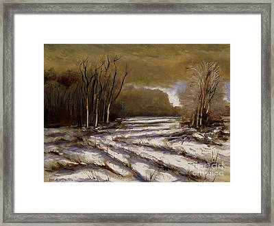 D N R Service Road Closed Retouch Framed Print by Charlie Spear
