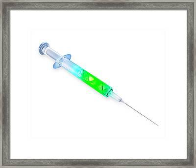 Dns Strand Inside A Syringe Framed Print by Andrzej Wojcicki