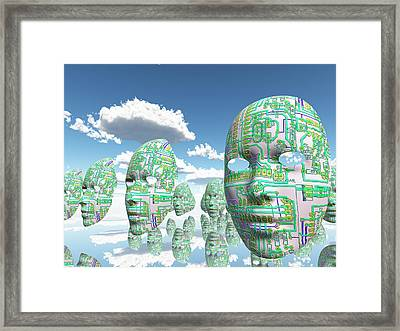 Do Androids Dream Of Electric Sheep Framed Print by Bruce Rolff