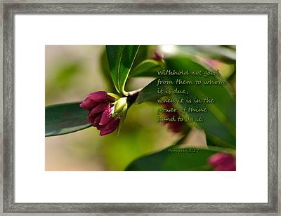 Do Good Framed Print