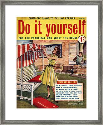 Do It Yourself 1959 1950s Uk Magazines Framed Print by The Advertising Archives