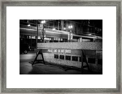 Do Not Cross Framed Print by Melinda Ledsome