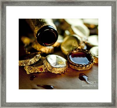 Do Not Cry Over Spilt Beer Framed Print by Wilma  Birdwell