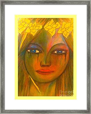 Framed Print featuring the painting Do Not Cry Painting By Saribelle Rodriguez by Saribelle Rodriguez