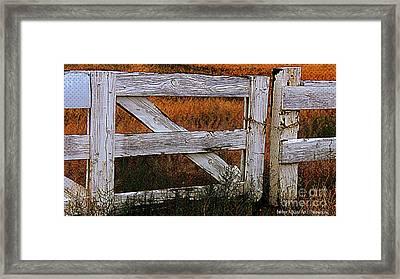 Do Not Enter Framed Print by Bobbee Rickard