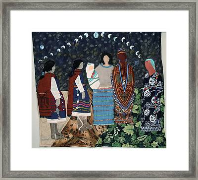 Do Not Judge A Women Until You Have Walked Two Moons In Her Moccasins Framed Print