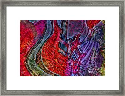 Do Not Let The Music Die Digital Guitar Art By Steven Langston Framed Print by Steven Lebron Langston