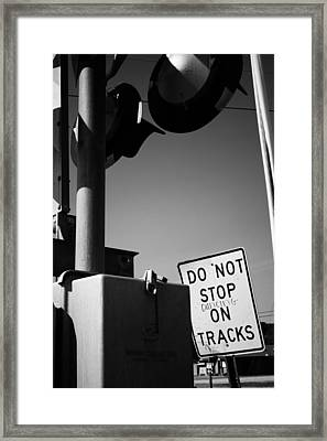 Framed Print featuring the photograph Do Not Stop Dancing On Tracks by Jason Politte