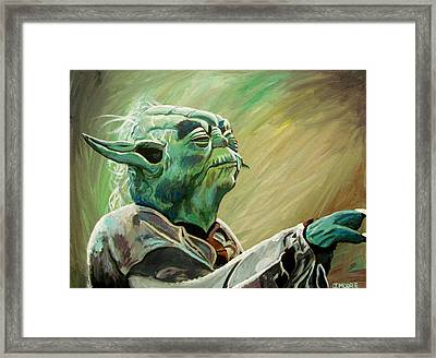 Do Or Do Not    There Is No Try Framed Print by Jeremy Moore