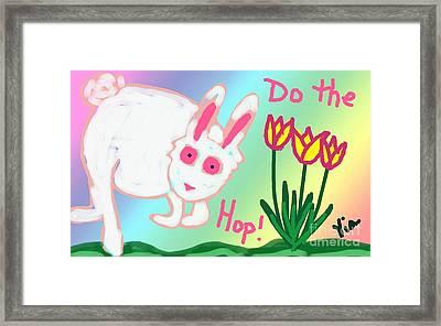 Do The Hop Framed Print by Judy Via-Wolff