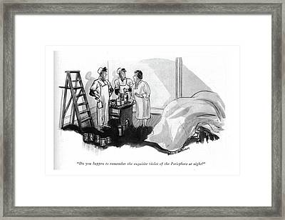 Do You Happen To Remember The Exquisite Violet Framed Print