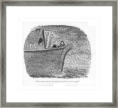 Do You Have Any Idea How Deep This Would Be If Framed Print by John Jonik