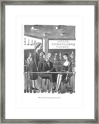 Do You Have The Same Thing In A Cook? Framed Print