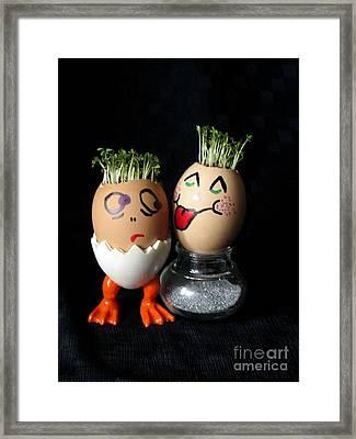 Do You Lick Me? Easter Eggmen Series Framed Print by Ausra Huntington nee Paulauskaite