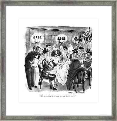 Do You Mind If We Sing Just One Smith Song? Framed Print