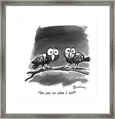 Do You See What I See? Framed Print by Eldon Dedini