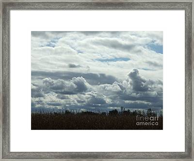 Do You See What I See In The Clouds. Framed Print by Deborah DeLaBarre