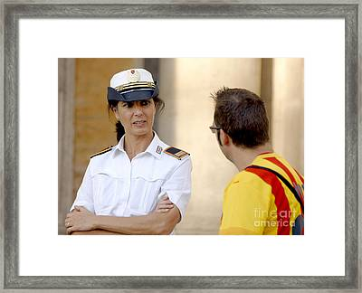 Do You Speak...? Framed Print