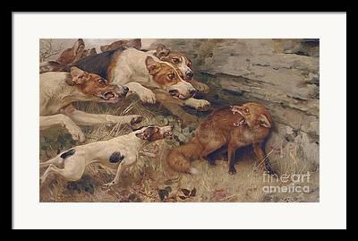 Barking Paintings Framed Prints