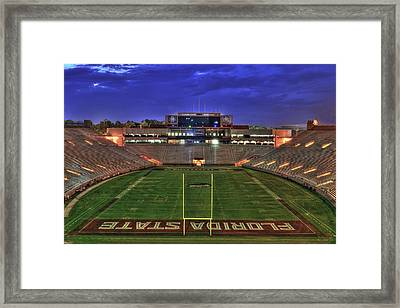 Doak Campbell Stadium Framed Print by Alex Owen