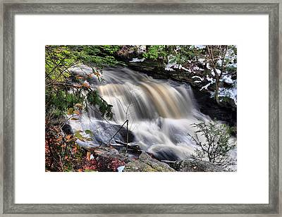 Framed Print featuring the photograph Doane's Lower Falls In Central Mass. by Mitchell R Grosky