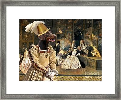 Doberman Pinscher Art -  The Last Auction Framed Print by Sandra Sij