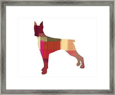 Doberman Pinscher Framed Print by Naxart Studio