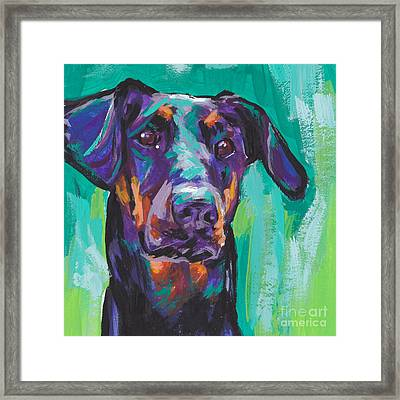 Dobie Love Framed Print by Lea S