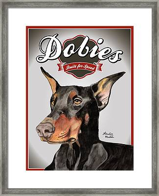 Dobies Built For Speed Framed Print by Amelia Hunter