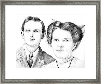 Framed Print featuring the drawing Dobson Wedding  by Mike Ivey