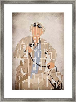 Doc. Brown Framed Print