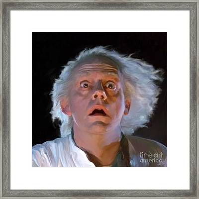 Doc Brown Framed Print by Paul Tagliamonte