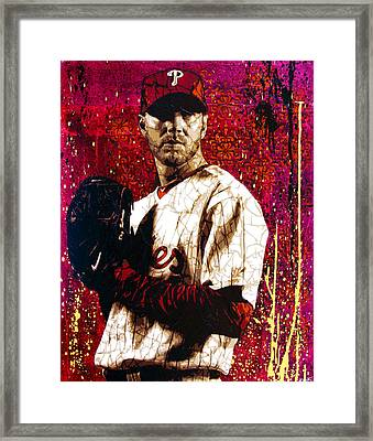 Doc Halladay Framed Print by Bobby Zeik