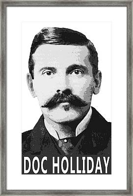 Doc Holliday Of The Old West Framed Print