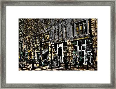 Doc Maynards And The Underground Tour - Seattle Washington Framed Print by David Patterson