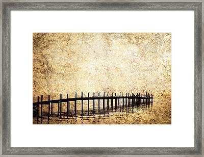 Dock 2 Framed Print by Skip Nall